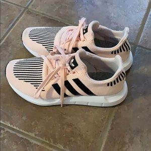 Pink and Black Adidas